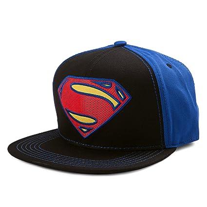 Image Unavailable. Image not available for. Color  DC Comics Superman Neon  Logo Snapback Baseball Cap 4de32093c0c