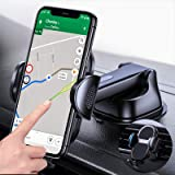 【4 in 1】 Cell Phone Mount for Car & Truck【Sturdy & Durable】, 【Safe Use Phone in Car】 Dashboard Windshield Air Vent Desk…