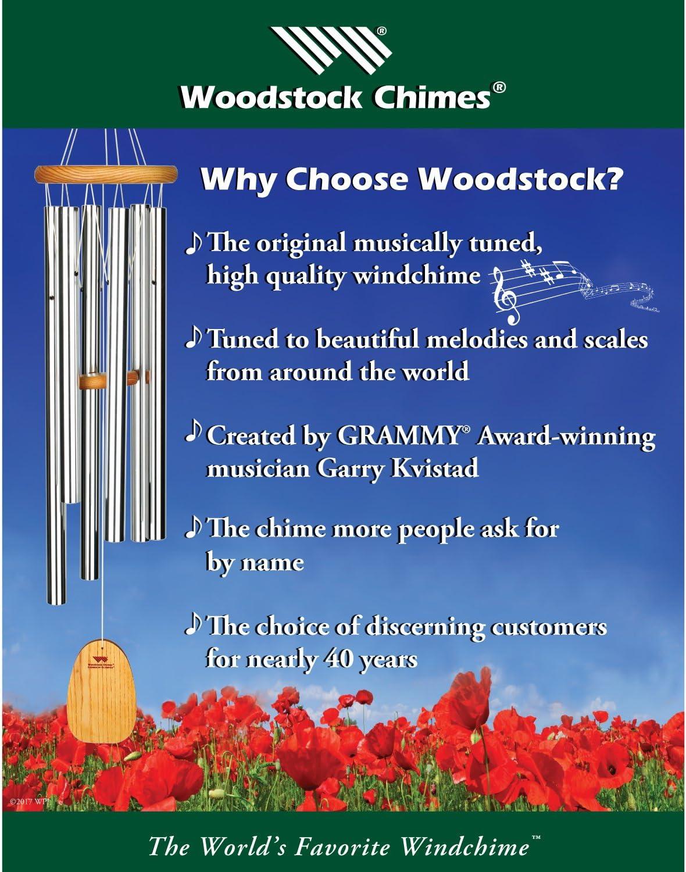 Woodstock Chimes 16-1//4-Inch Long Chakra Windchimes Amber
