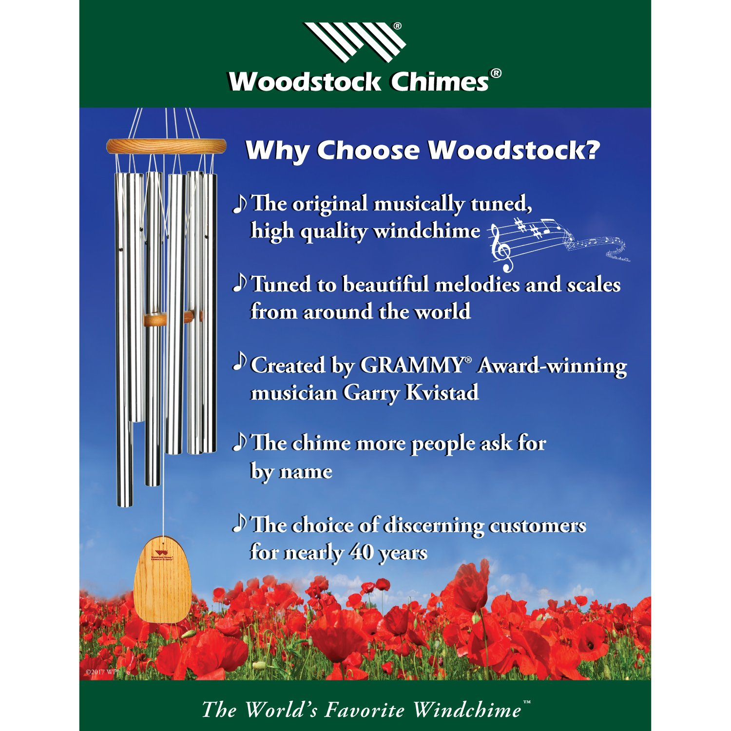 Woodstock Chimes WCBHG The Original Guaranteed Musically Tuned Chime Hanging Gong, Black/Bronze by Woodstock Chimes