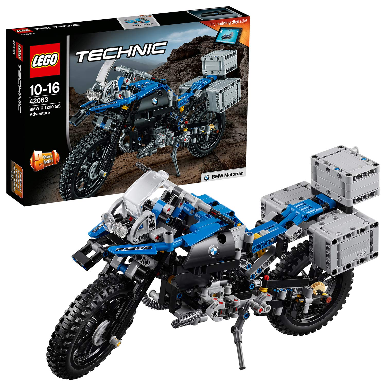 LEGO 42063 Technic BMW R 1200 GS Adventure Motorbike, 2 in 1 Model, BMW  Design, Concept Building Playset