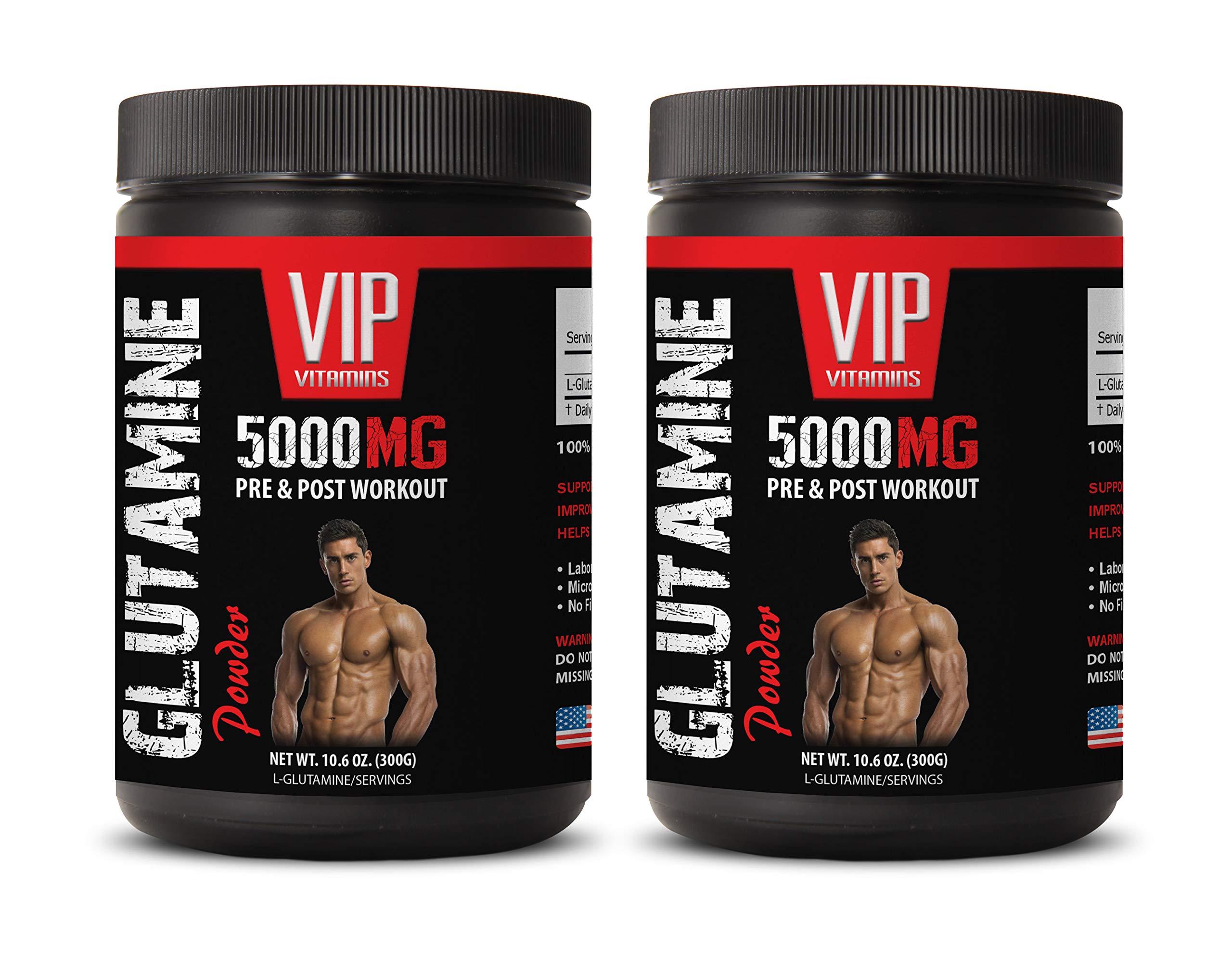 Workout Supplements for Women - GLUTAMINE Powder 5000MG - PRE & Post Workout - l-glutamine Gluten Free - 2 Cans 600 Grams