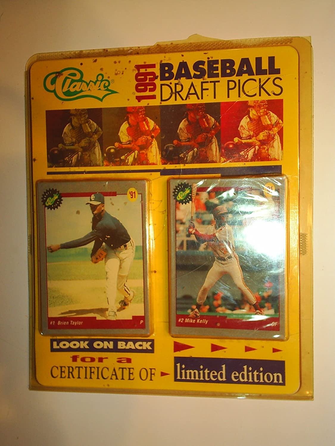 Vintage 1991 classic baseball draft picks certificate limited.