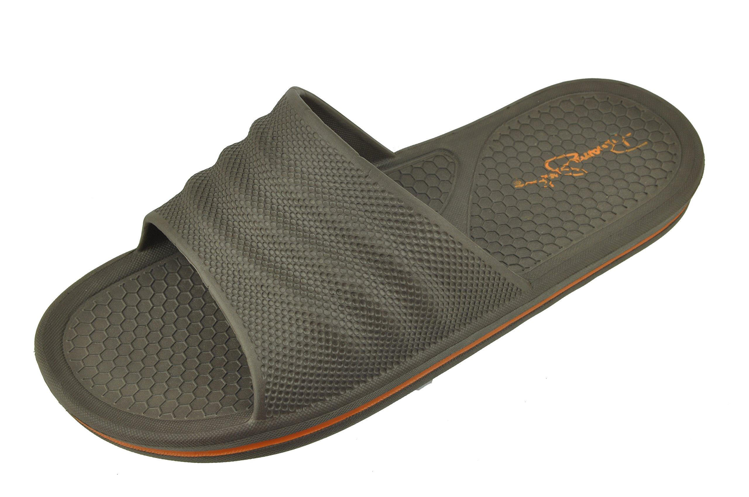 Panama Jack Men's Weekender Sport Casual Slide Sandal, Brown, Large/Size 9-10