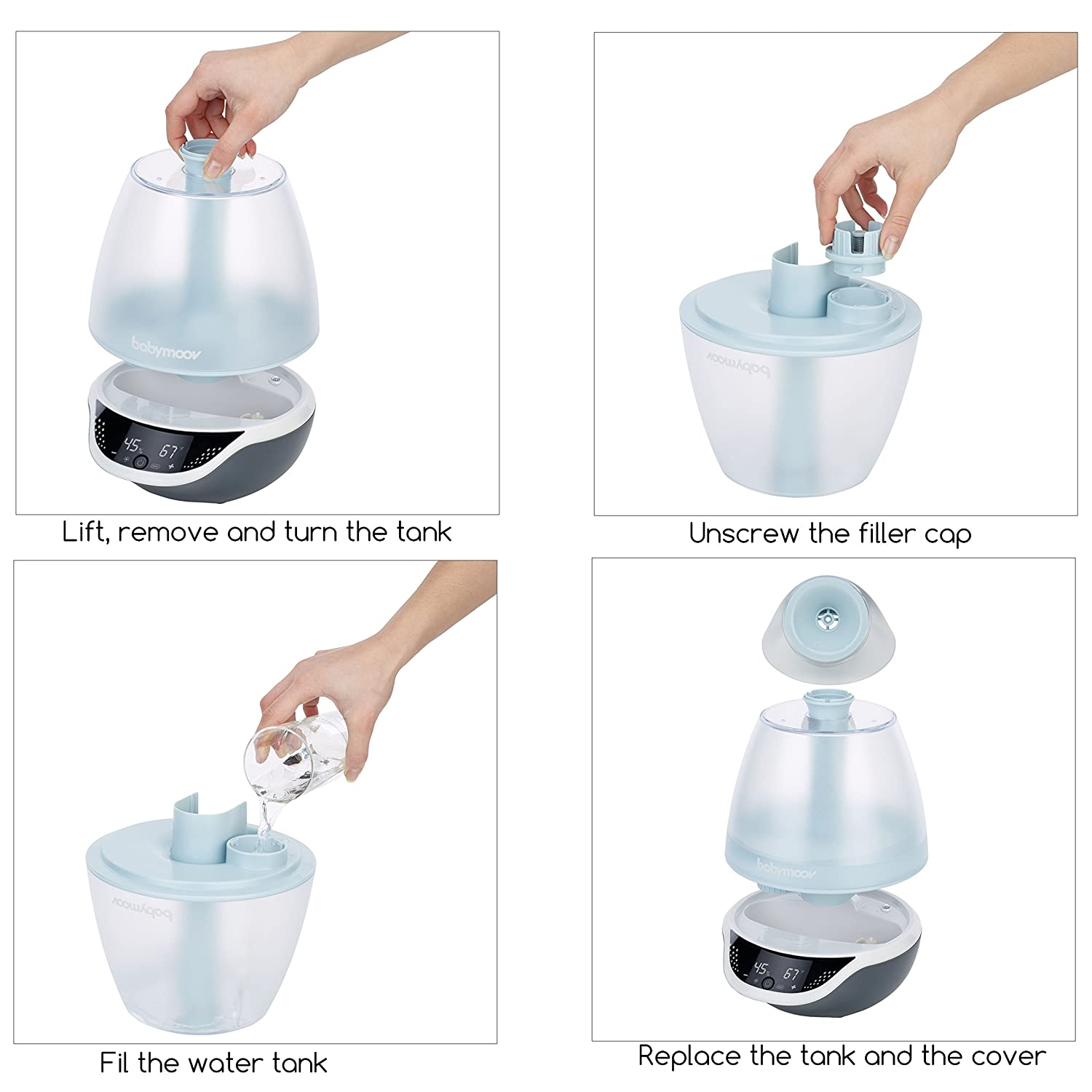 Hygro Plus Cool Mist Humidifier  3in1 Humidity Control Multicolored Night Light  Essential Oil