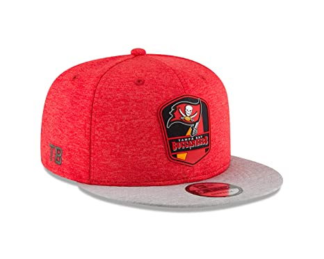 eb6b38d03 Image Unavailable. Image not available for. Color  New Era Tampa Bay  Buccaneers 2018 NFL Sideline Road Official 9FIFTY Snapback Hat
