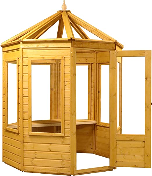 6 x 6 de madera octogonal invernadero Growhouse Shiplap T & G ...