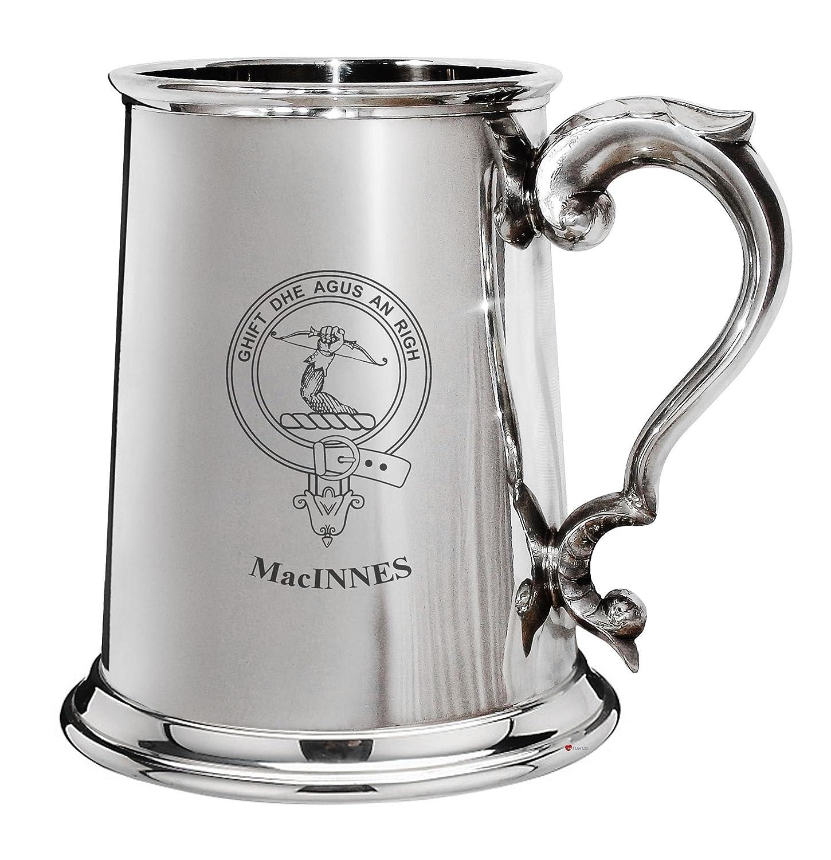 respuestas rápidas I Luv Luv Luv LTD Cresta de la familia de MacInnes estaño pulido 1 pinta la jarra de cerveza con el desfile de manejar  punto de venta
