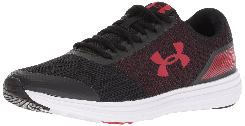 Under Armour UA Surge, Zapatillas de Running para Hombre 41 EU|Negro (Black/White/Red)