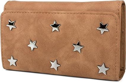 styleBREAKER suave monedero con aplicaciones de estrellas de ...