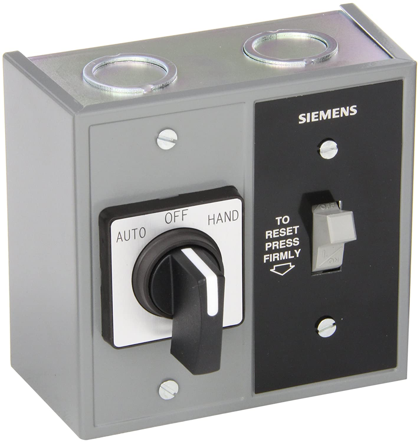 Siemens Smffg71 Fractional Hp Starter Auto Off Hand Spdt Selector Single Phase Motor Switch Nema Type 1 General Purpose Enclosure Surface Mounting