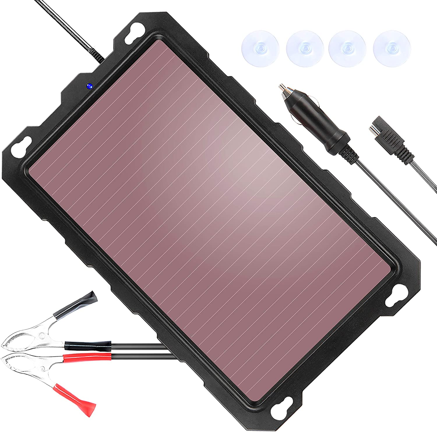 POWISER 12V Solar Battery Maintainer and Charger