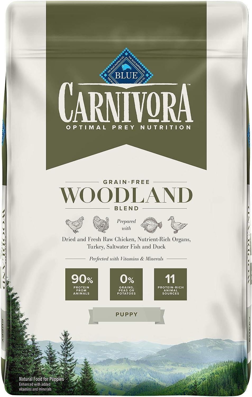 Blue Buffalo Carnivora Optimal Prey Nutrition High Protein, Grain Free Natural Puppy Dry Dog Food, Woodland Blend 10lb
