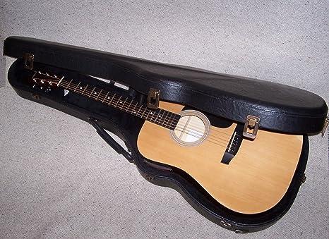 VGV estuche Lusso MADE in ITALY, madera aglomerada Piel para guitarra acústica: Amazon.es: Instrumentos musicales