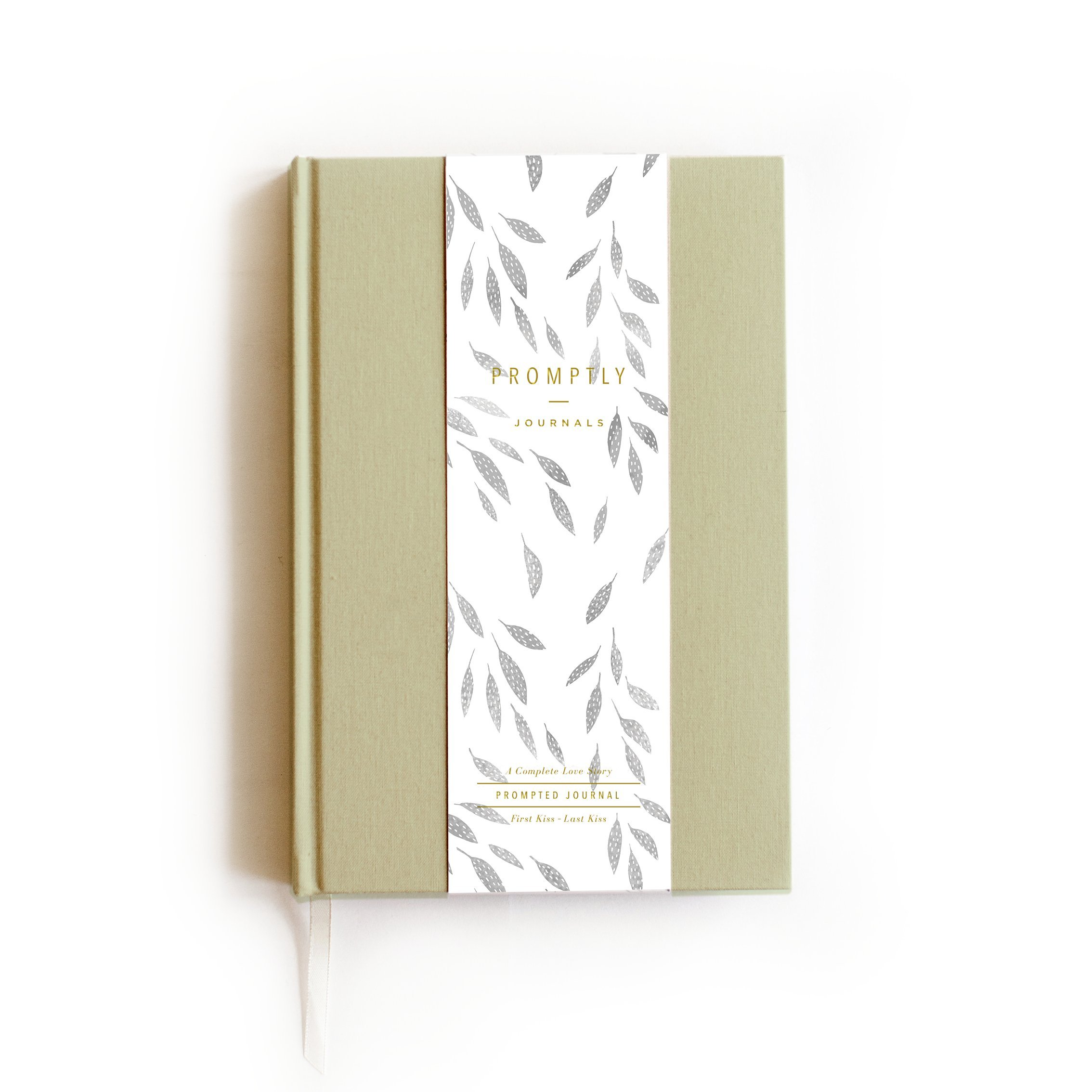 Promptly Journals - Love Story Signature Collection (Sage), Relationship & Marriage Journal, Hundreds of Meaningful Prompts, Covers from When The Couple Met Until Their 70th Wedding Anniversary