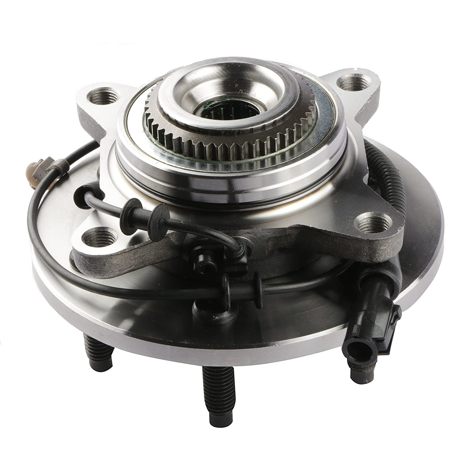 Set of 2 Sierra Savana Yukon Express MOSTPLUS Wheel Bearing Hub Front Assembly for Escalade 2000-07 GMC//Chevy Only for 4WD With ABS 6 Lug 515036X2