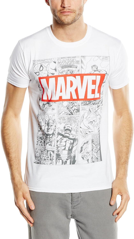 Marvel Mono Comic T-Shirt Uomo
