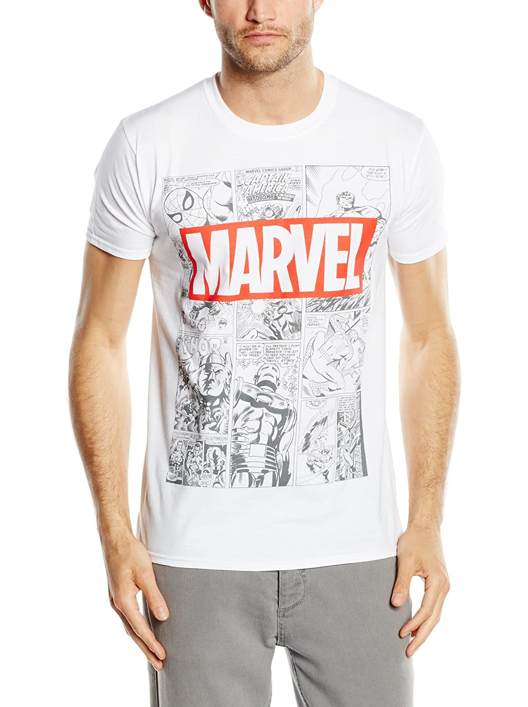 Marvel Herren Mono Comic T-Shirt
