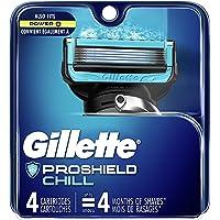 Gillette Fusion ProShield Chill Men's Razor Blade Refills, 4 Count Refills, Mens Razors/Blades