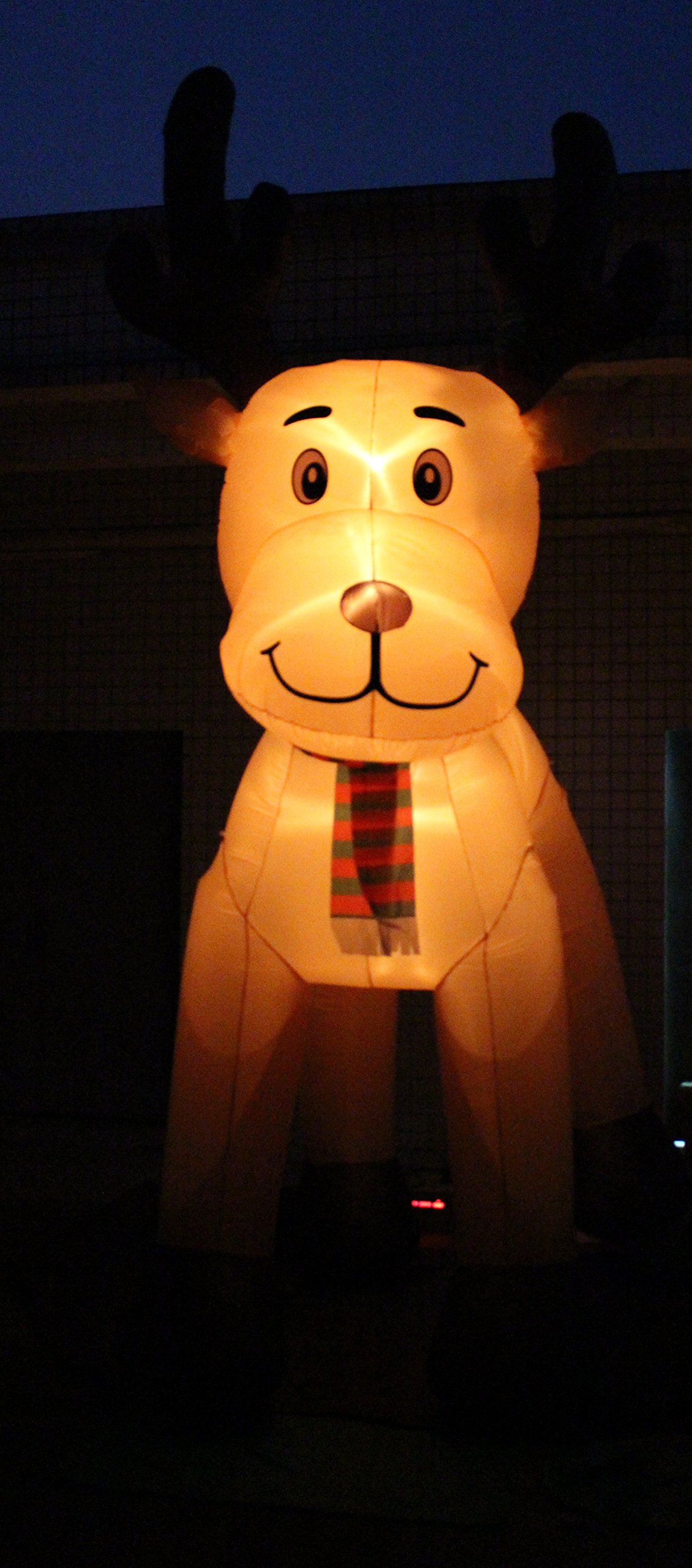 JUMBO 15 Foot Tall Christmas Inflatable Reindeer Outdoor Yard Decoration by BZB Goods (Image #4)