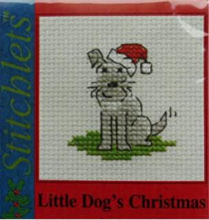 Christmas Collection Mouseloft Mini Cross Stitch Kit Christmas Scarf Fox