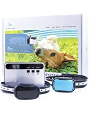 Barklo In-Ground Electric Fence for Dogs - Underground Pet Perimeter Containment System with 2 Collars and 650ft Wire