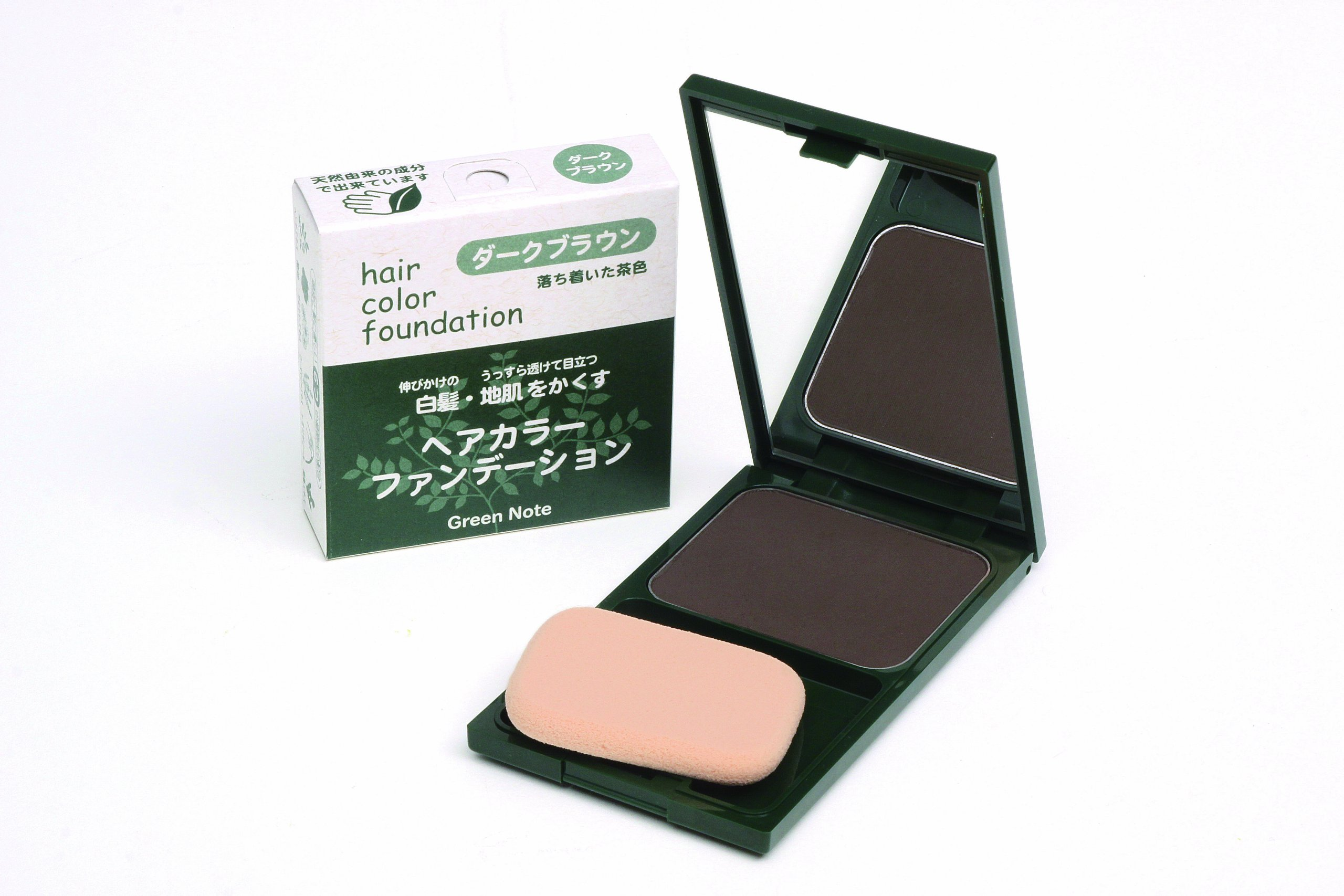 Green note hair color foundation Dark Brown by Hair color foundation