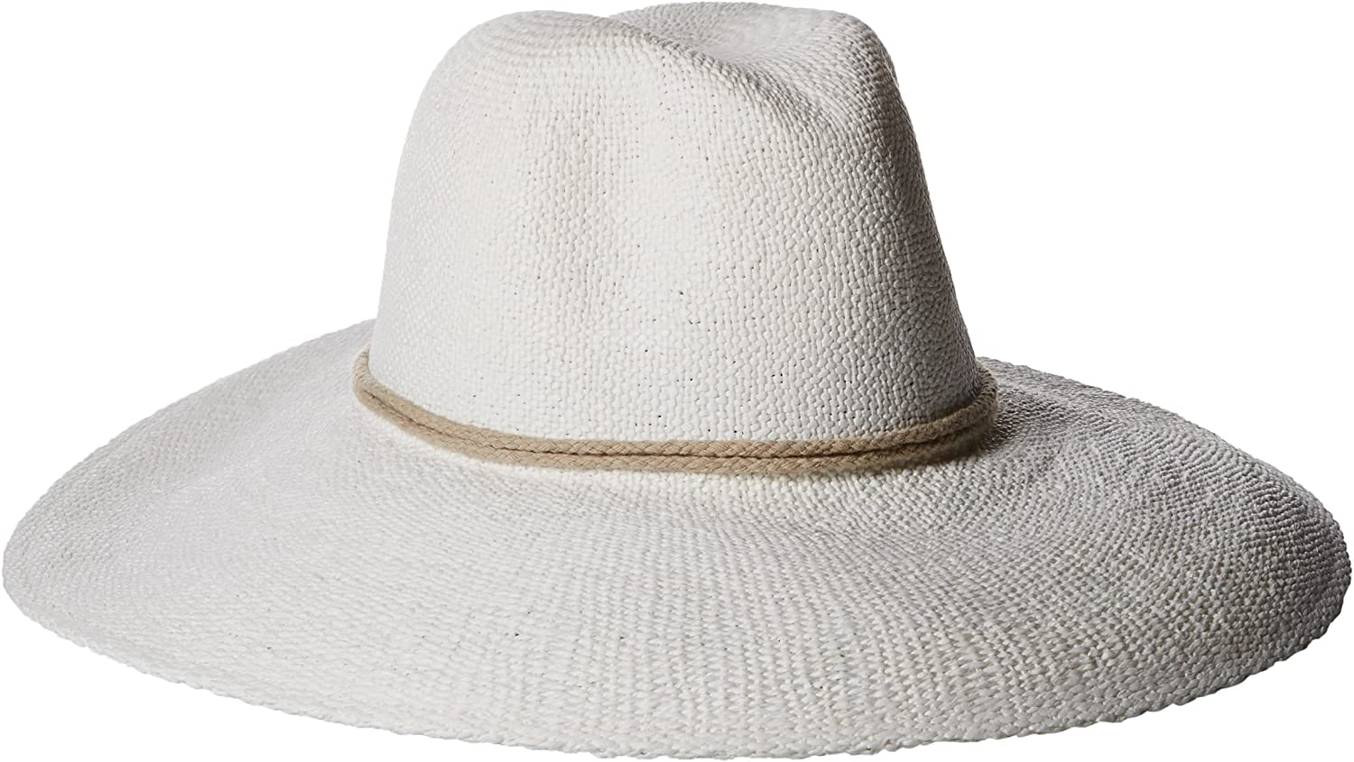 'ale by alessandra Women's Praia Woven Toyo Hat With Contrast Rope Trim