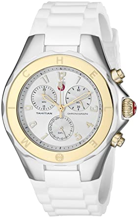 ce770590f Image Unavailable. Image not available for. Color: MICHELE Women's  MWW12F000056 Tahitian Jelly Bean Analog Display Analog Quartz Silver Watch