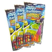 Amazing Original Happy Baby Balloons Autoscellantes, 3 Paquets avec Un Total de 333 Bombes à Eau, Multi
