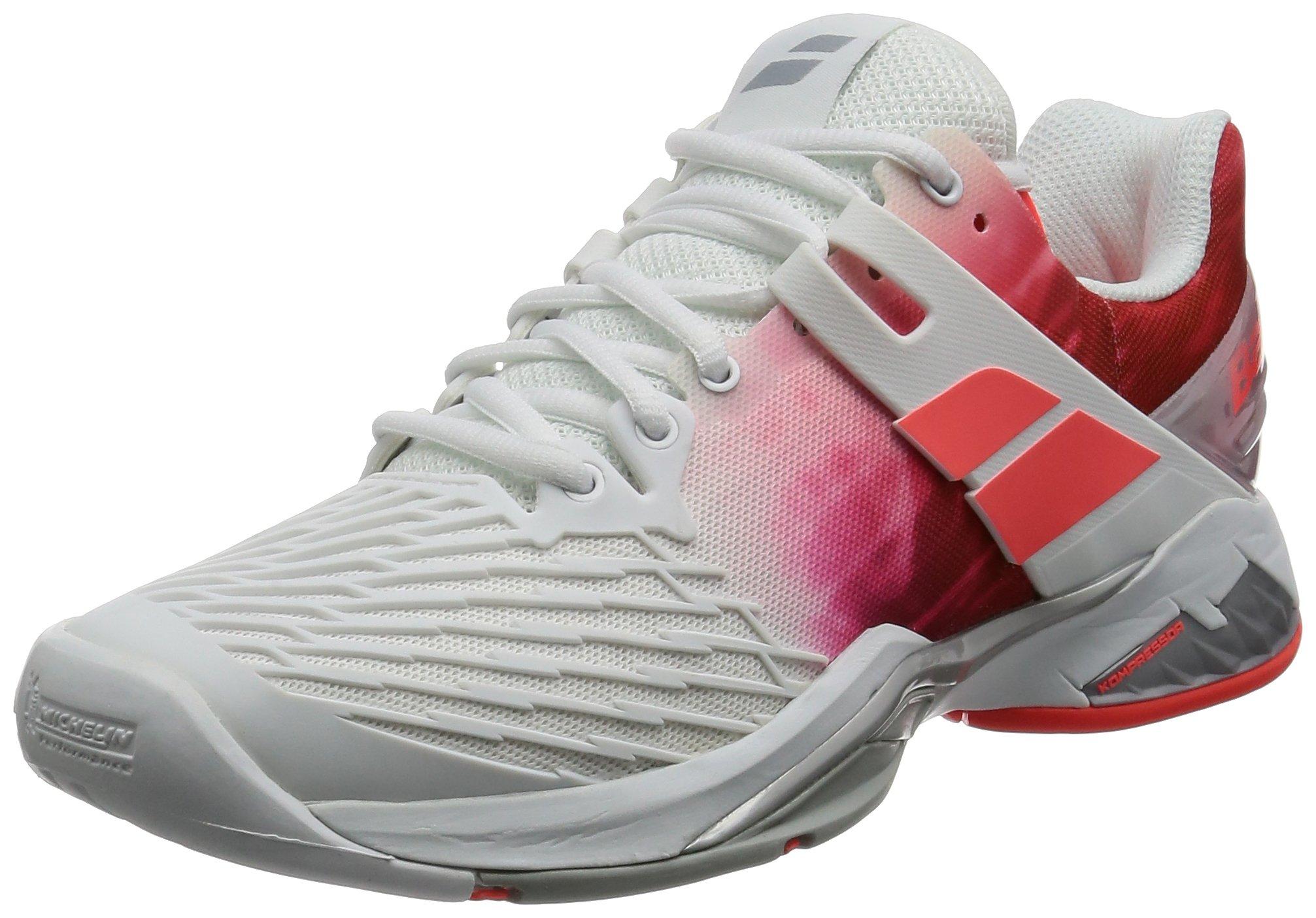 Babolat Women's Propulse Fury All Court Tennis Shoe-7 B(M) US-White/Pink