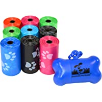 Downtown Pet Supply Dog Pet Waste Poop Bags with Leash Clip and Bag Dispenser - 180, 220,…