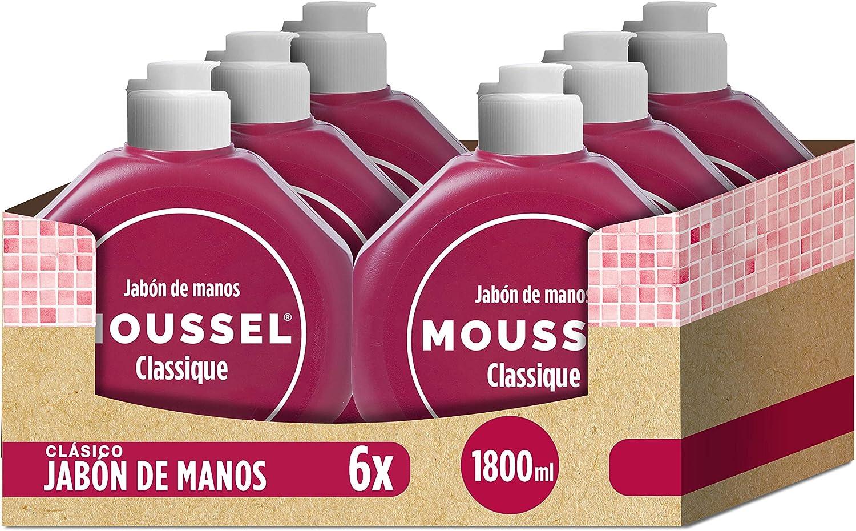 Moussel - Jabón de manos, 300 ml - [Pack de 6]