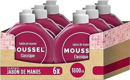 Moussel - Jabón de manos, 300 ml - [Pack de 6]: Amazon.es: Belleza