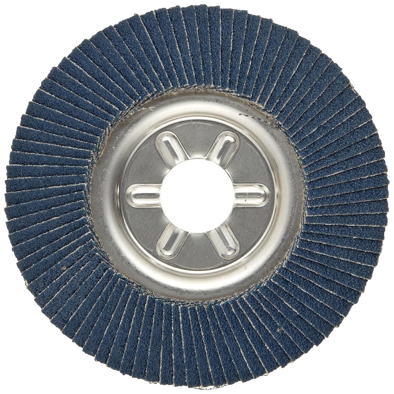 Aluminum Backing Round Hole 60 Grit Zirconia Alumina Weiler Tiger Abrasive Flap Disc Type 29 4-1//2 Dia.
