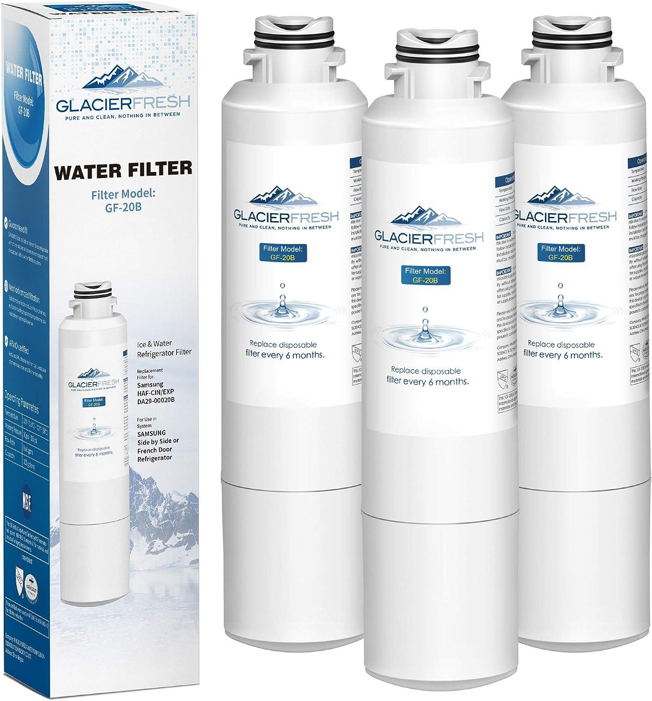 GLACIER FRESH Refrigerator Water Filter Replacement Samsung DA29-00020B HAF