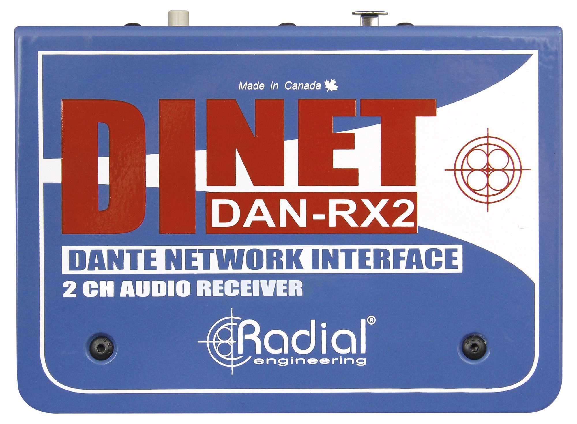 Radial DiNET DAN-RX2 2-Channel Dante Network Receiver