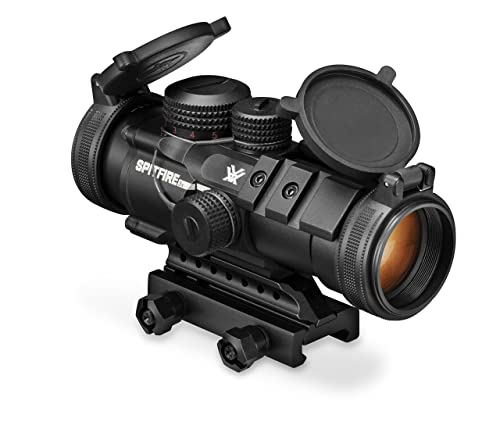 Vortex Optics SPR-1303 Spitfire 3x Prism Scope with EBR-556B Reticle (MOA), Black