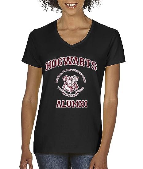 0b14ada9 New Way 129 - Women's V-Neck T-Shirt Hogwarts Alumni Harry Potter School