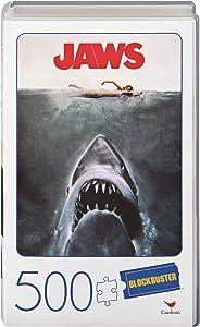 Jaws Movie 500-Piece Puzzle in Plastic Retro Blockbuster VHS Video Case
