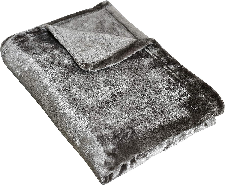 Plaid en Polaire Uni Couverture en Microfibre Douce Animaux d/éplacements Adultes Plaid Couverture Polaire pour canap/é Enfants Voyages lit