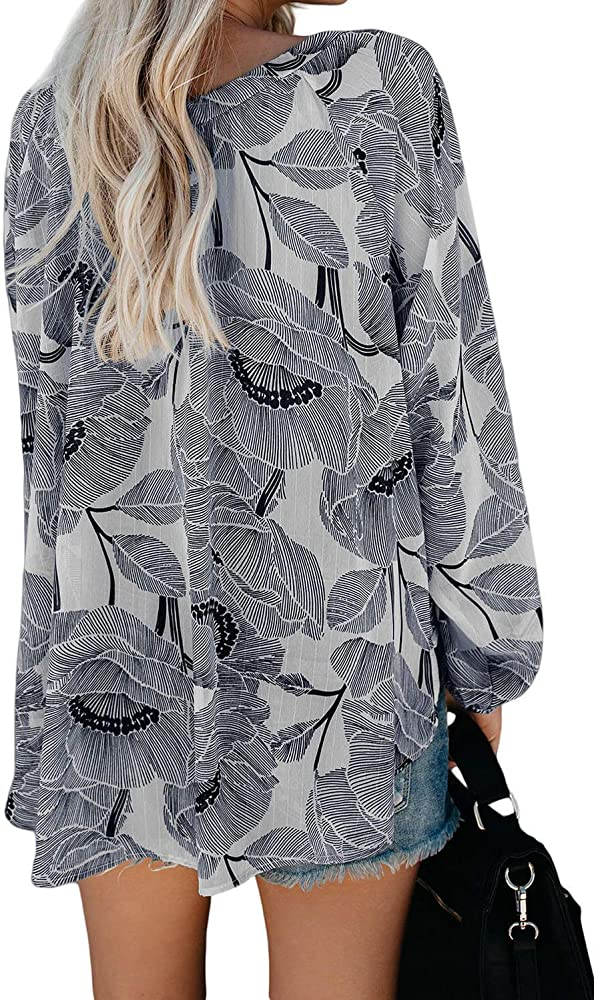 Camisa De Mujer Moda Casual Manga Larga con Cuello En V ...
