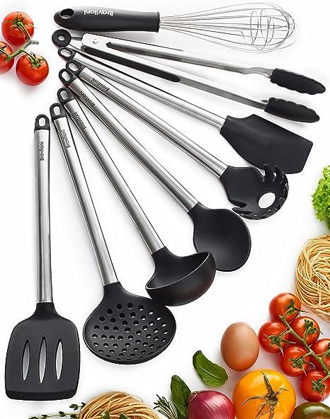 Kitchen Utensil Set Silicone Spoon Baking Cooking Tools Non-Stick Reusable