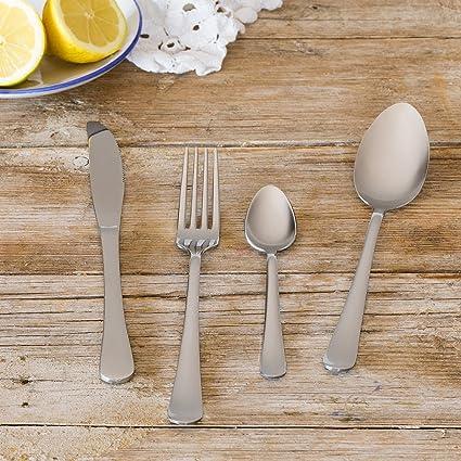 Amazon.com: Monix Dinner Ménagère en acier inoxydable 18/c 24 pièces: Home & Kitchen