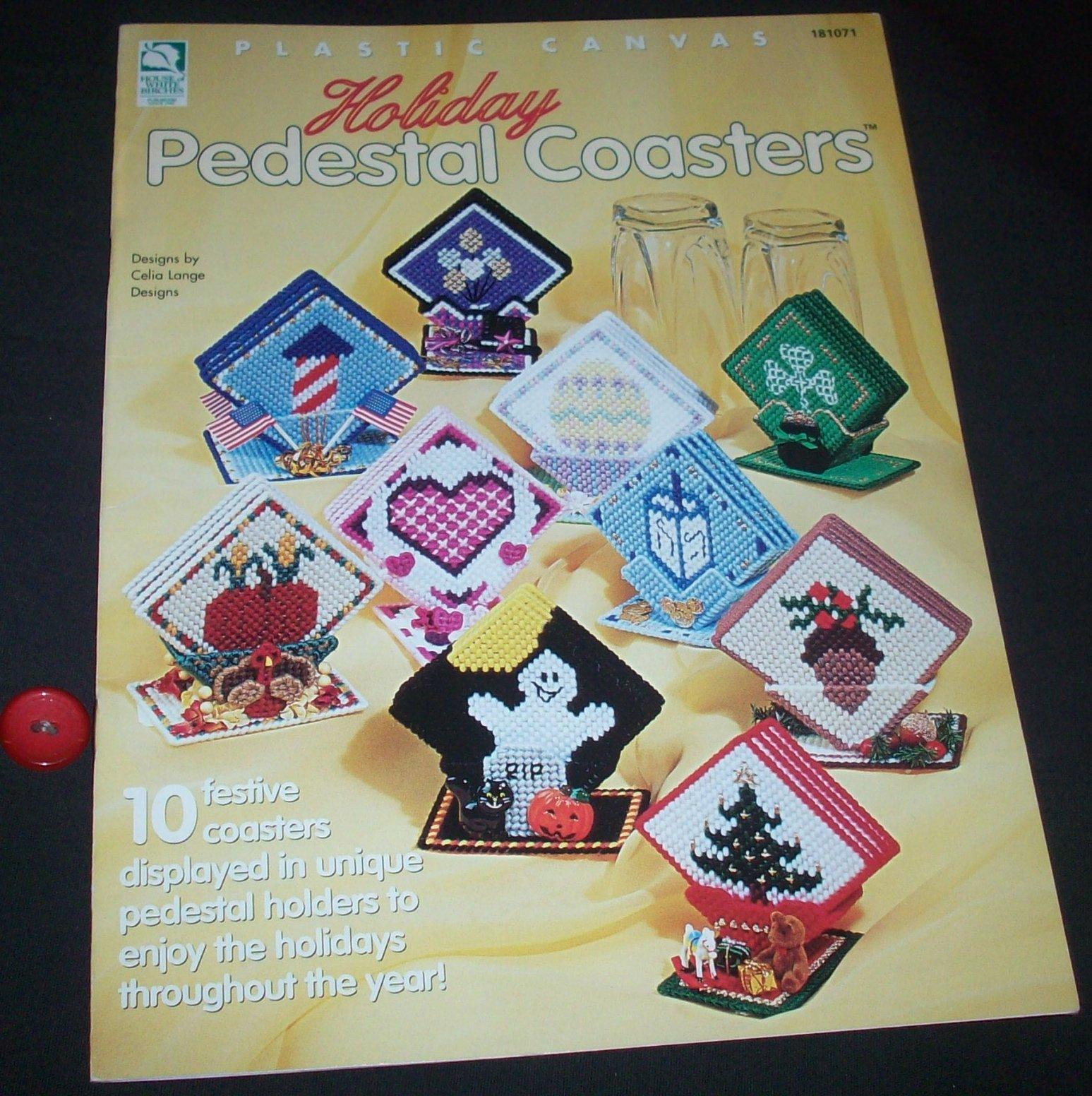 Plastic Canvas Christmas Coaster Patterns.Plastic Canvas Holiday Pedestal Coasters 181071 Celia