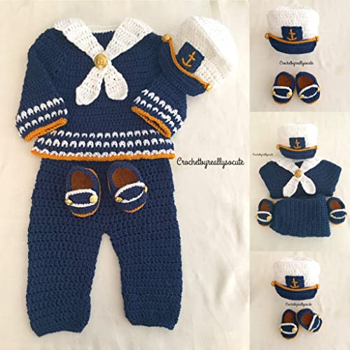 3b8b9e44de9a6 Baby Boy Sailor Outfit | Newborn Sailor Costume | Nautical Baby Shower | Baby  Boy Gift | Nautical Baby Shower Set - Navy Hat - Baby Boy Coming Home Outfit