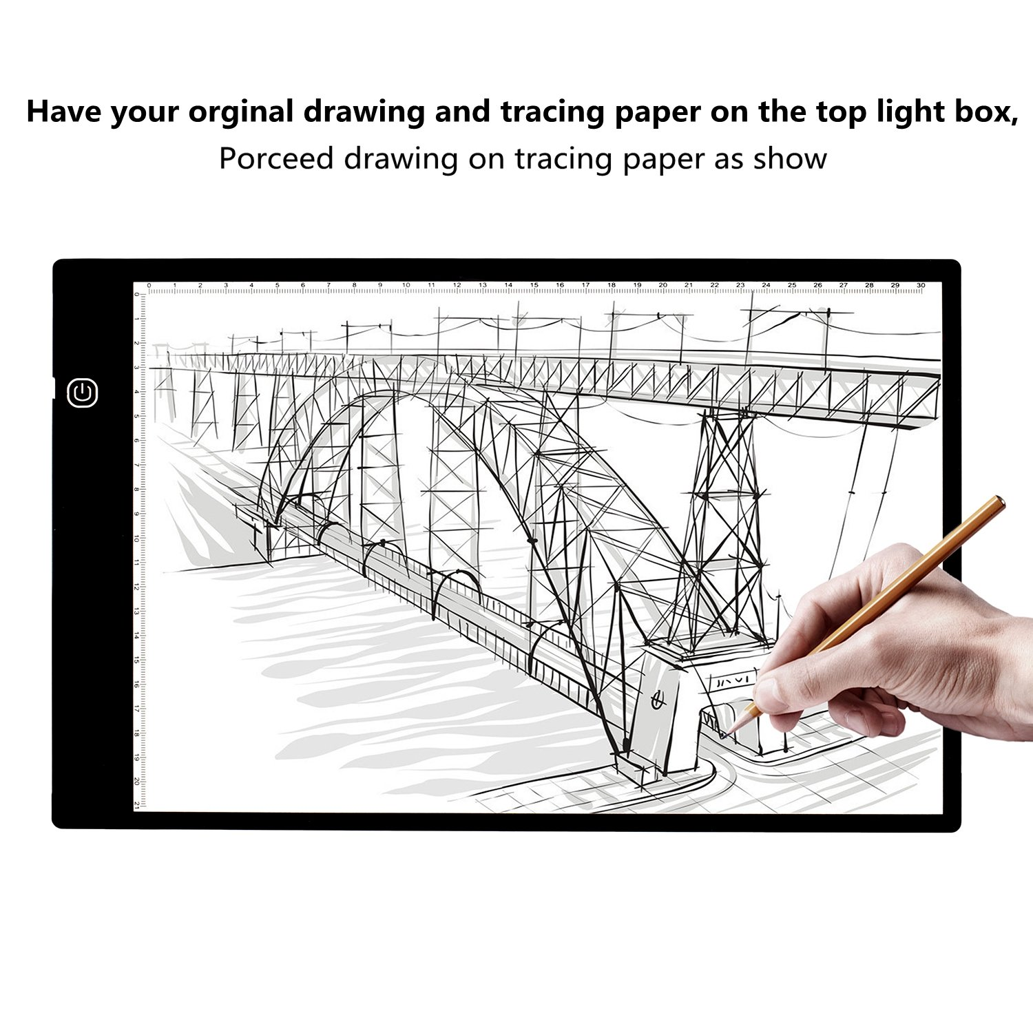 Elitehood Ultra Thin Light Box Light Pad for Tracing Drawing Eyesight-Protected Designed for Artists Drawing Sketching Animation