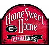 """NCAA Georgia Bulldogs 10-by-11 Wood """"Home Sweet Home"""" Arch Sign"""