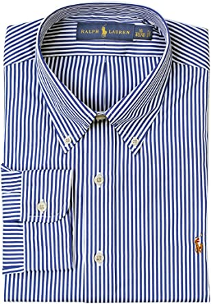 bdb19262b Polo Ralph Lauren Men s Pony Logo Striped Dress Shirt (14.5