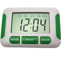 Digitale klok met 5 instelbare alarmen, stopwatch, herinneringshulp voor tabletten